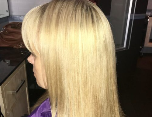 From brassy to platinum blonde hair