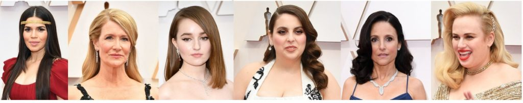 Oscars 2020 hairstyles_straight and wavy 1
